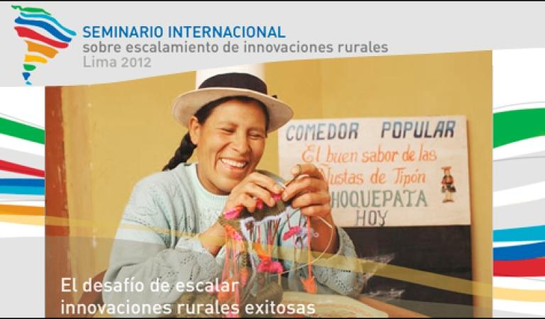 Cinco publicaciones sobre experiencias de innovaciones rurales son presentadas por el IEP