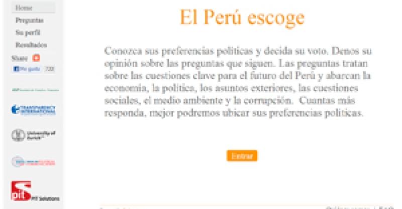 IEP lanza el portal web peruescoge.org