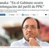 """Tanaka: """"En el Gabinete ocurre prolongación del perfil de PPK"""""""