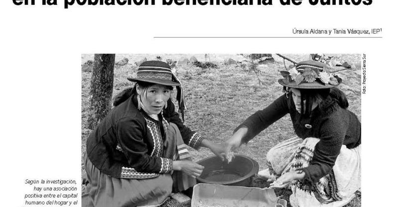 El impacto del proyecto Sierra Sur en la población beneficiaria de Juntos