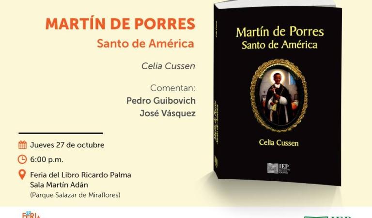 ADELANTO: Feria Ricardo Palma: publican libro sobre San Martín de Porres