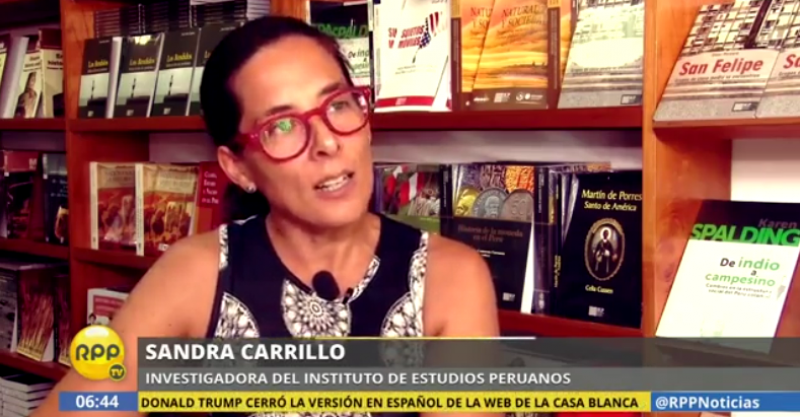 Sandra Carrillo es entrevistada por RPP