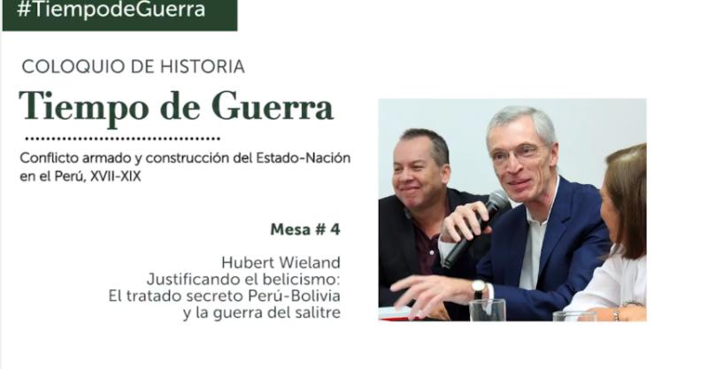 """Participación de Hubert Wielanden el Coloquio de Historia """"Tiempo de Guerra"""""""