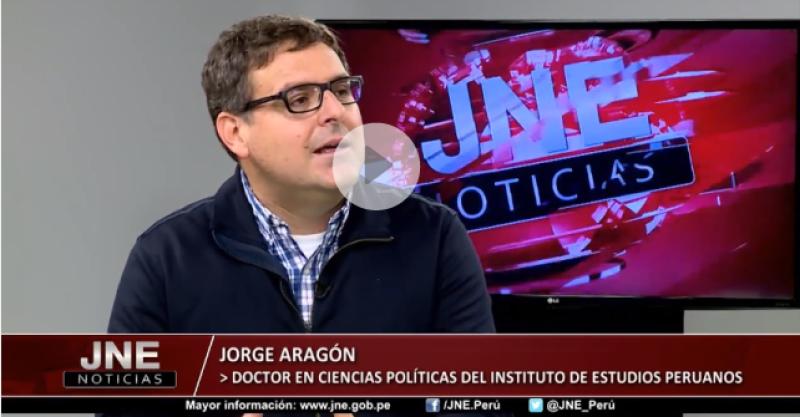 """[VÍDEO] Jorge Aragón: """"Las finanzas partidarias deberían ser transparentes"""""""