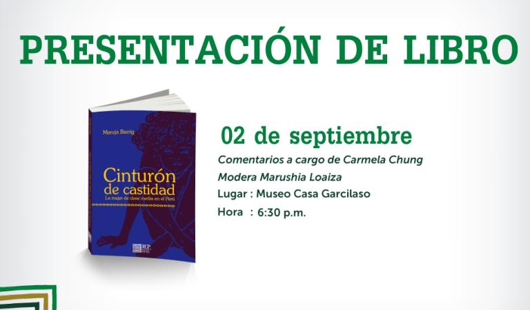 """FIL Cusco- Presentación del libro """"Cinturón de Castidad"""""""