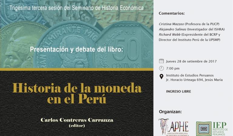 """Presentación del libro """"Historia de la moneda en el Perú"""""""