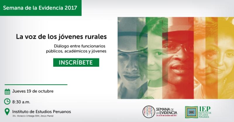Semana de la evidencia: IEP organiza mesa de discusión sobre jóvenes rurales