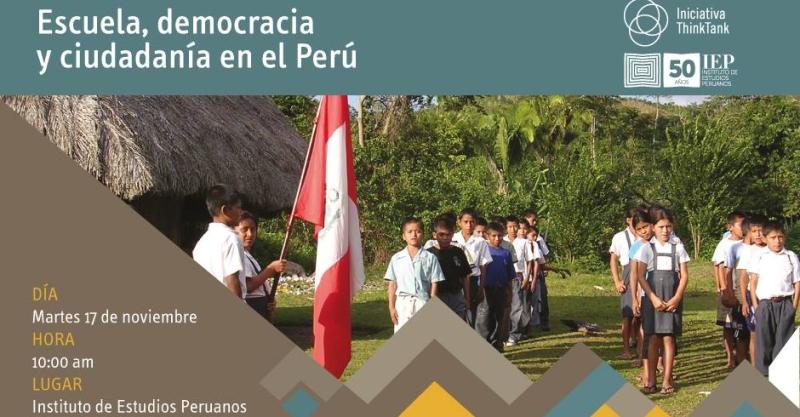 """Conferencia """"Escuela, democracia y ciudadanía en el Perú"""""""