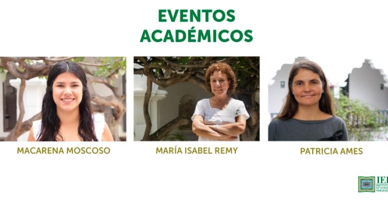 Investigadoras del IEP participan en distintos eventos académicos