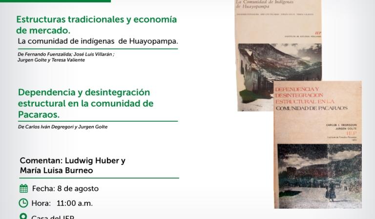 """[MESA VERDE] """"La comunidad de indígenas de Huayopampa"""" y """"Dependencia y desintegración estructural en la comunidad de Pacaraos"""""""