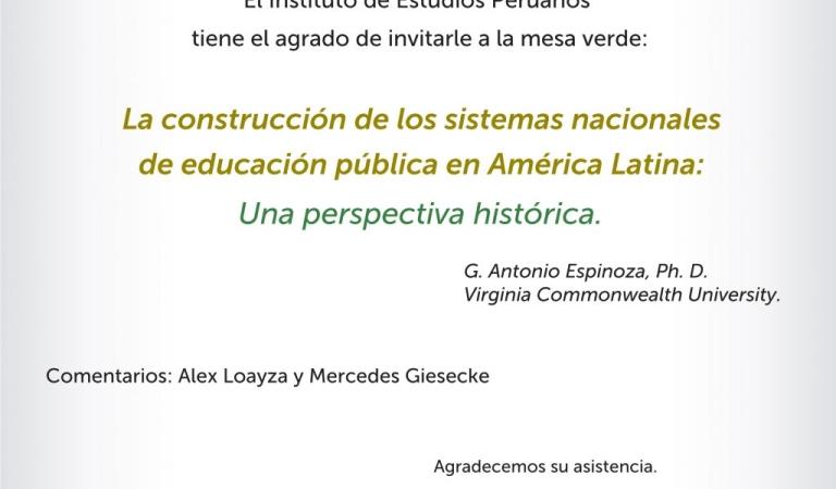 La construcción de los sistemas nacionales de educación pública en América Latina: una perspectiva histórica