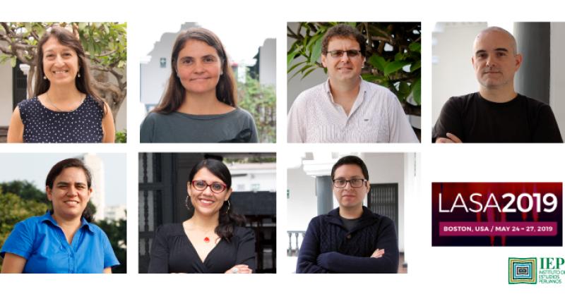 Investigadores del IEP en LASA 2019