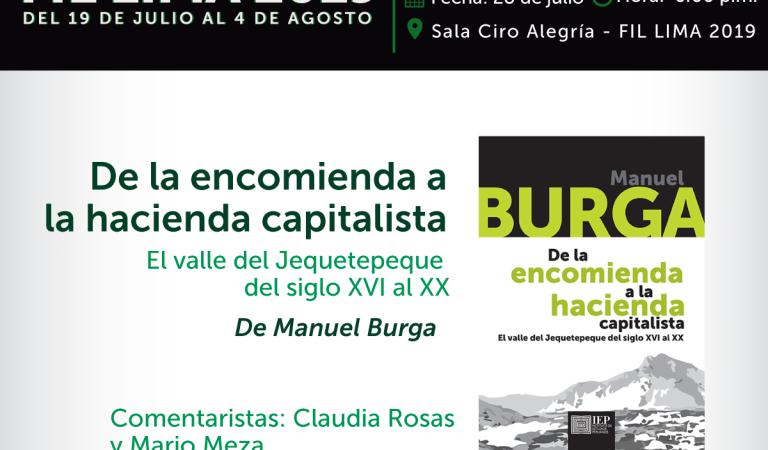 De la encomienda a la hacienda capitalista, de Manuel Burga