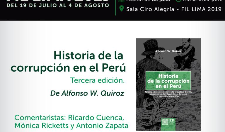 Historia de la corrupción, de Alfonso W. Quiroz