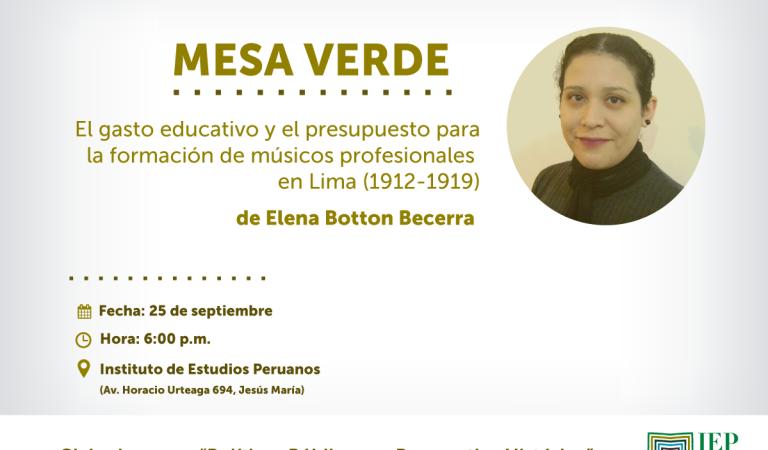 El gasto educativo y el presupuesto para la formación de músicos profesionales en Lima (1912-1919)