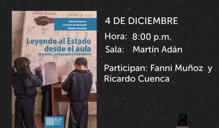 Feria del Libro Ricardo Palma: Leyendo al Estado desde el aula: maestros, pedagogía y ciudadanía