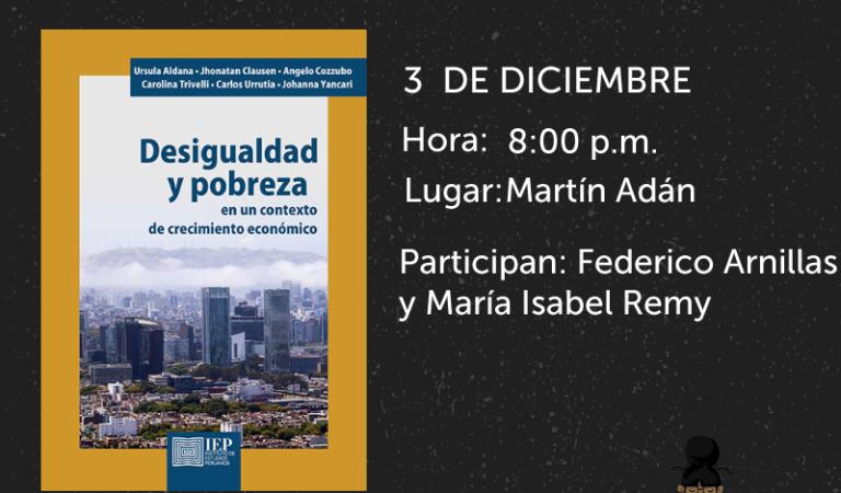 Feria del Libro Ricardo Palma: Desigualdad y pobreza en un contexto del crecimiento económico.