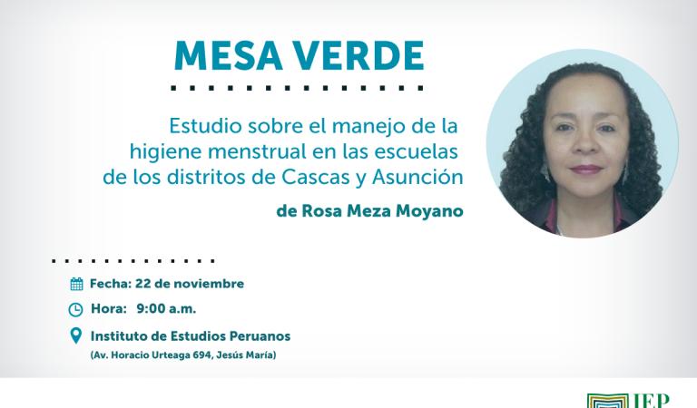 Estudio sobre el manejo de la higiene menstrual en las escuelas de los distritos de Cascas y Asunción