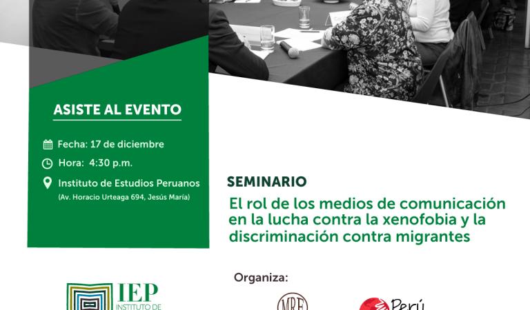 El rol de los medios de comunicación en la lucha contra la xenofobia y la discriminación contra migrantes