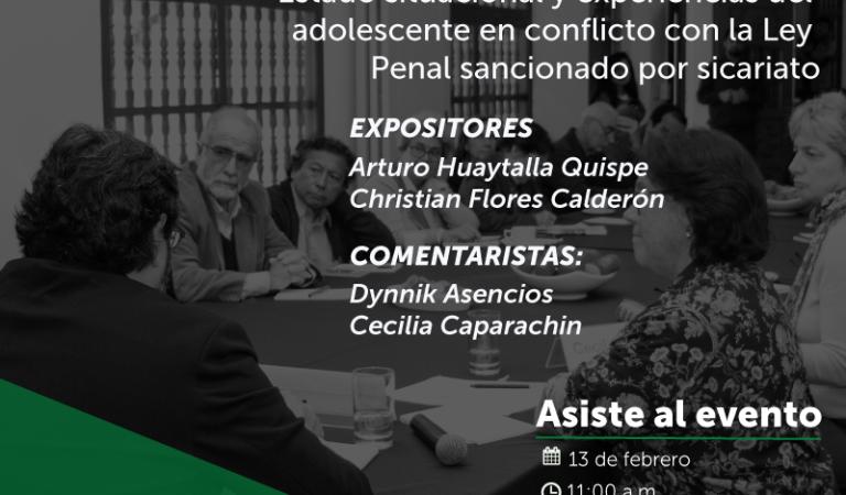 El fenómeno del sicariato en el Perú: Estado situacional y experiencias del adolescente en conflicto con la Ley Penal sancionado por sicariato