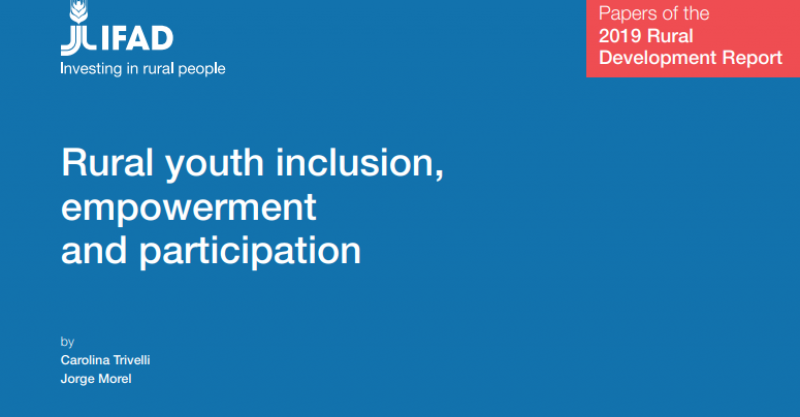 "[DOCUMENTO DE TRABAJO] ""Rural youth inclusion, empowerment and participation"""