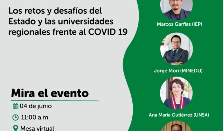 [VIRTUAL] Los retos y desafíos del Estado y las universidades regionales frente al COVID 19