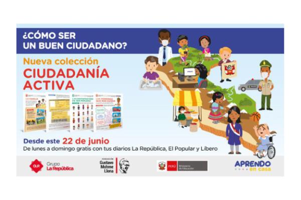 """La República publica láminas educativas basadas en textos """"Nuestro País"""" del IEP"""