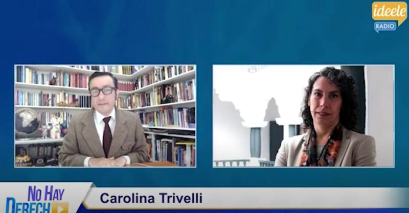 """[VIDEO] Entrevista a Carolina Trivelli en programa """"No hay derecho"""""""