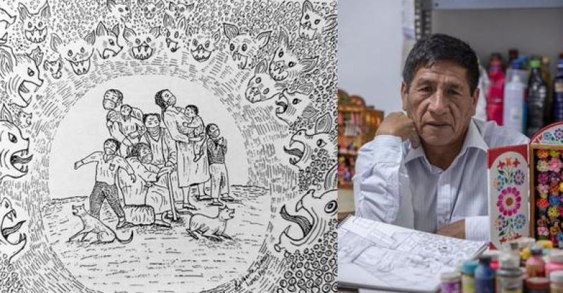[ENTREVISTA] Dolor y espanto: artista Edilberto Jiménez hace el más certero retrato del paso del COVID-19 por el Perú