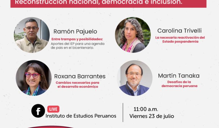 Desafíos del Perú: Reconstrucción nacional, democracia e inclusión