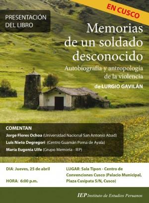 Flyer Memorias de un soldado Cusco 2