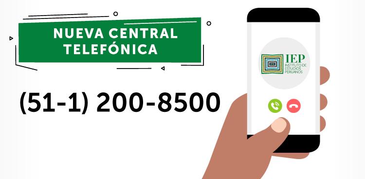 El Instituto de Estudios Peruanos cambia de número telefónico
